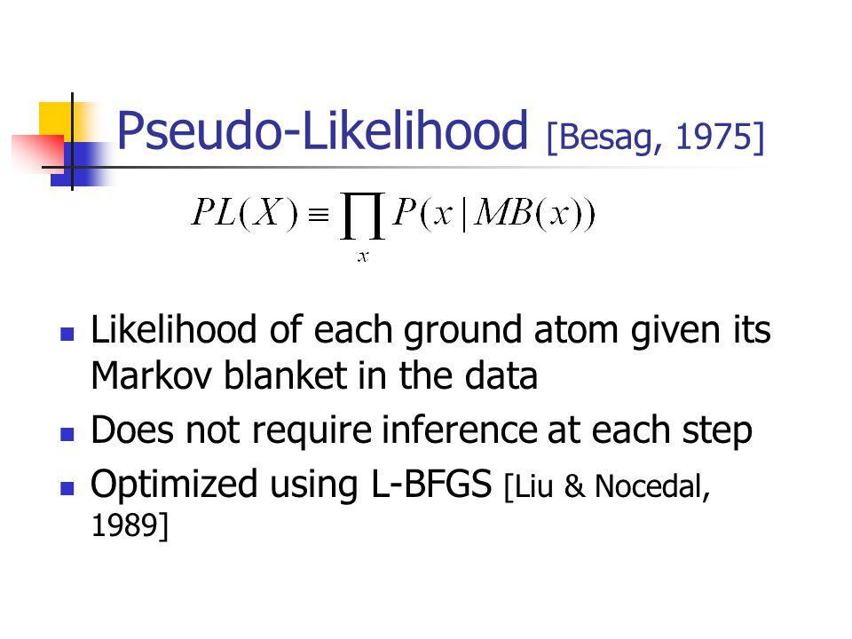 Pseudo-Likelihood [Besag, 1975]